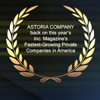 Astoria Company Ranks No. 1190 on the 2016 Inc. 5000