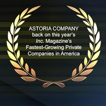 Astoria Company Ranks No. 1190 on the 2016 Inc. 5000